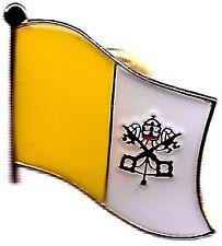 Lot Of 3 Vatican City Flag Lapel Pins - Vatican City Papal Flag Pin