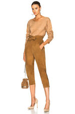 MARISSA WEBB NEW Maxwell VE Tan Brown High Paperbag Waist Suede Cropped Pant 0