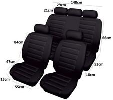 Full Set Of Black Airbag Leather Look Car Seat Cover Protectors Best Quality