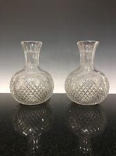A Pair Of Cut Glass Brilliant Period Bulb Vases
