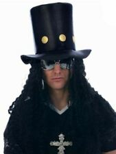 Mens Slash Guns N Roses Rocker Fancy Dress Top Hat & Wig Accessory
