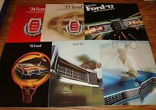 1969 1970 1971 1972 1973 1974 Ford Full Size Galaxie Ltd Sales Brochure Lot of 6