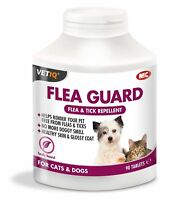 VetIQ Flea Guard 90 Tablets Flea and Tick Repellent - Cats / Dogs SAMEDAY DISP'