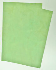 LEATHER pezzi di Cowhide 2 @ 30cm x 20cm Lime Verde Swirl 2mm Thick pull_up
