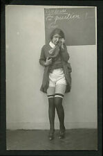 French 1930 Ostra CLASSROOM Tableaux STUDENT Crying Panties LEGS ~ VASTA Archive