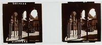 Grenade Alhambra Andalusia Spagna Foto Stereo PL59L6n Placca Vintage c1910