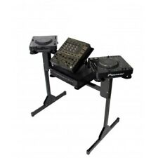 More details for sefour x25 adjustable dj deck stand cd media player mixer table booth black