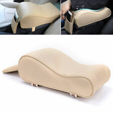 Beige PU Leather Car SUV Armrest Cushion Box Mats Console Cover Pad Liner 1pc