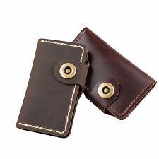 ANCICRAFT® Genuine Leather Key Case Card Holder Bag Wallet by Handcrafted Gift