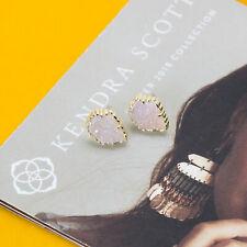 Authentic Kendra Scott Tessa in Iridescent Drusy Gold Earrings