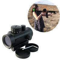 Scope 1x40 Red Green Dot 20mm/11mm Rail Pointer Hunting Illuminated Scope Sight