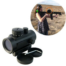 Scope 1x40 Red Green Dot 20mm/11mm Rail Pointer Hunting Illuminated Scope Sight