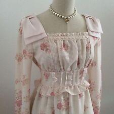 LIZ LISA Dress flower gingham check Hime Japan Kawaii Gyaru Fashion #14917