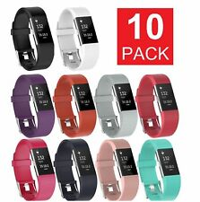 10 Pack Replacement Wristband For Fitbit Charge 2 Band Silicone Fitness Large Us