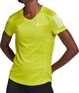 adidas Own The Run Short Sleeve Womens Running Top - Yellow