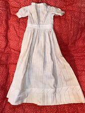 Antique 19th Century Cotton Pin Stripe Eatly Doll Dress