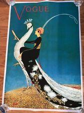 "VOGUE MAGAZINE COVER Poster Print WOMENS FASHION Peacock 21""x31"""