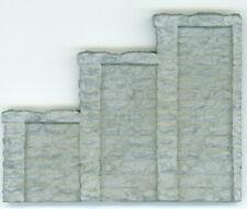 "HO Gauge ""Tunnel Portal Wing Walls"" - Cut Stone Variety - L@@K!!"