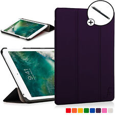 Purple Folding Smart Case Cover Sleeve for Apple iPad 9.7 2017 A1822 Stylus