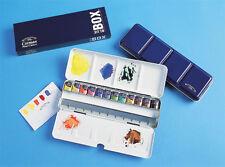 Winsor & Newton Cotman Watercolour 12 Half Pans Metal Box - Blue