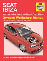 Seat Ibiza 2002-2008 1.2 1.4 1.9 Petrol & Diesel Haynes Manual 4889