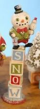 Bethany Lowe - Christmas - Snowman Toy Blocks - GG0957