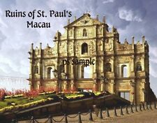 China - Macau Macao - RUINS OF ST PAULS - Travel Souvenir Fridge Magnet