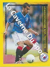 N°354 VAN BRONCKHORST NETHERLANDS RANGERS.FC STICKER PANINI SCOTTISH LEAGUE 2000