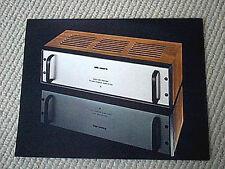 Audio Research D-100 power amplifier brochure