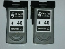 2PK Compatible inks for Canon PG-40 Black Ink Cartridge PG 40 fit MP140 iP1700