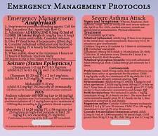Emergency Medical Management - Medical Medicine Nursing Reference Lanyard Card
