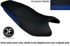 BLACK & R BLUE AUTOMOTIVE VINYL CUSTOM FITS KYMCO PULSAR 08-13 DUAL SEAT COVER