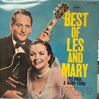 LES PAUL & MARY FORD BEST OF CAPITOL CR-7091 Japan FLIPBACK COVER RED LP RARE