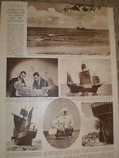 Photo article replica ship Santa Maria for film Christopher Columbus 1948 ref Z2