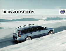 Volvo V50 Specification 2007-08 UK Market Brochure S SE Lux R-Design Sport
