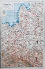 EASTERN FRONT NORTH WW1 1914-18 MAP c.1920