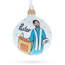 Pastor Glass Ball Christmas Ornament 3.25 Inches