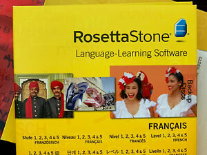 Rosetta Stone V4 TOTALe: French Level 1-5 Set for PC or Mac