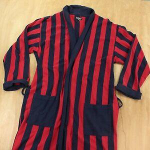 vtg J Peterman robe XL broad striped colorblock no belt sweatshirt usa 80s 90s