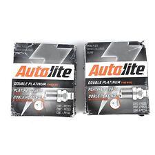 EIGHT(8) Autolite Double Platinum APP104 Spark Plug SET New Open Box