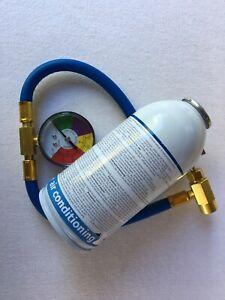 ☀️ inkl Füllschlauch Kfz Klimaanlage Kältemittel Klima Flasche R134a KIT ☀️