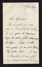 André GIDE  Lettre autographe signée. 1896