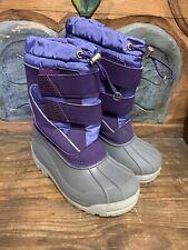 Lands' End Snowboots Girls 13 Purples/Grays Nice