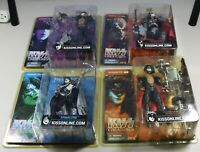 Kiss Creatures Figures Demon Starchild Space Ace Fox McFarlane Complete Set 2002