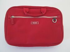 Womens Tumi Red Cosmetic Travel Bag