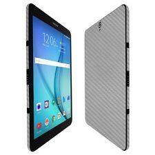 "Skinomi Silver Carbon Fiber Skin+Screen Protector For Samsung Galaxy Tab S3 9.7"""
