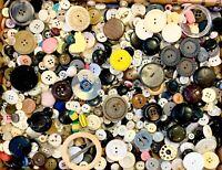 BUTTONS! HUGE Lot TWELVE POUNDS Vintage Sewing Buttons 12lb Estate Mix  12PD4