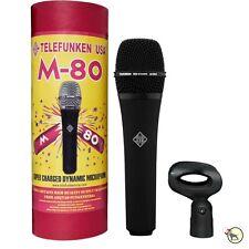 Telefunken M80 Dynamic Live Stage Vocal Instrument Recording Microphone Black