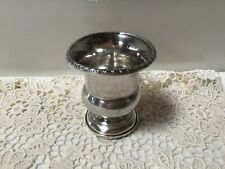 Antique 1900's WEBSTER Co STERLING Weighted TOOTHPICK HOLDER Footed/Ornate Rim