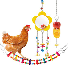New listing Woiworco 3 Packs Chicken Toys, Chicken Swing Toys for Coop, Chicken Mirror Toys